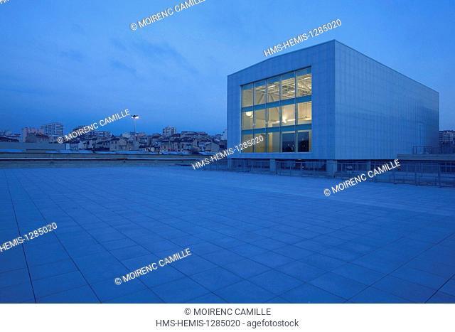 France, Bouches du Rhone, Marseille, Friche de la Belle de Mai, Panorama Tower, architects Matthieu Poitevin and Pascal Reynaud