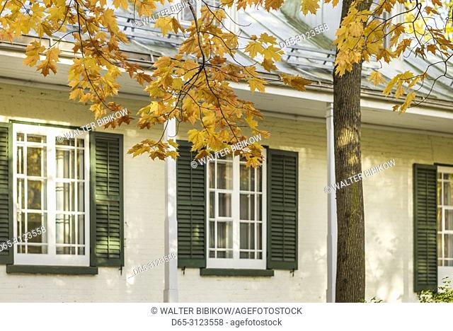 Canada, Quebec, Quebec City, La Maison Henry-Stewart, detail of 1849 house of Anglophone family, autumn
