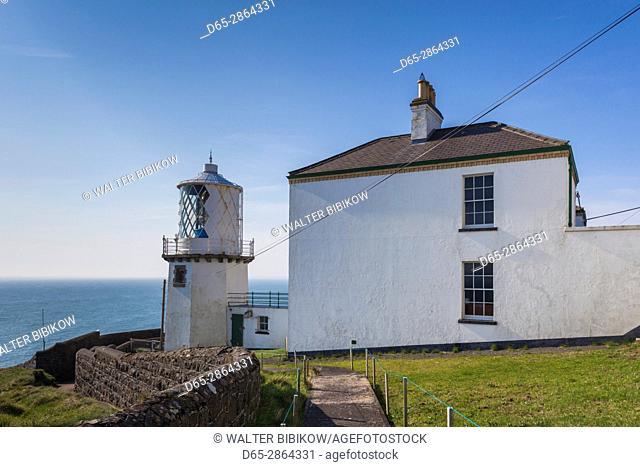 UK, Northern Ireland, County Antrim, Whitehead, Blackhead Lighthouse