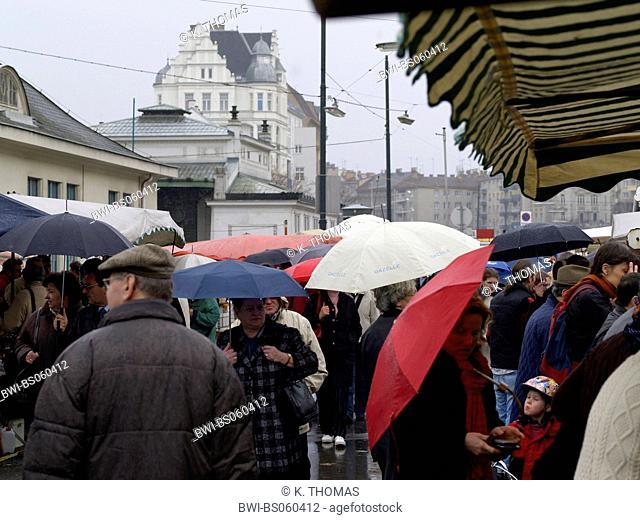 Naschmarkt at rain, Austria, Vienna, 5. district, Vienna - Naschmarkt