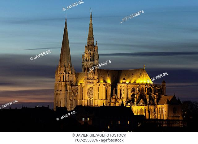 Cathedral of Our Lady of Chartres, Eure et Loir department, Centre region, France