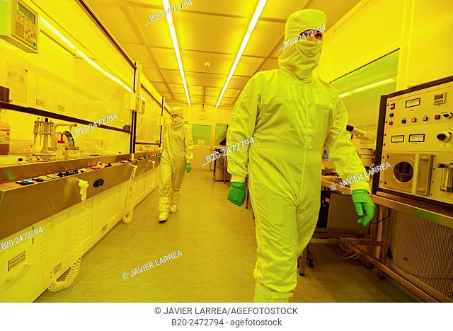 Photo bay. Photolithography Room. Cleanroom. Nanotechnology. Laboratory. CIC nanoGUNE Nano science Cooperative Research Center. Donostia