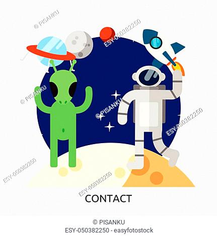 Space Contact Vector Image