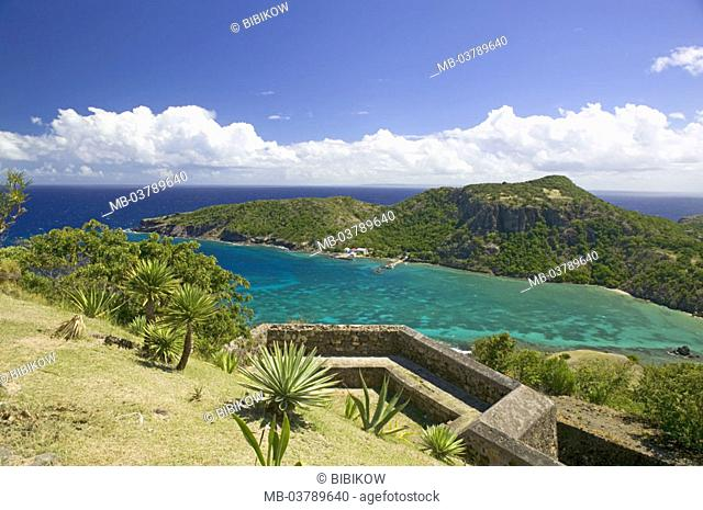 Guadeloupe, Bourg of the Saintes, fort Napoleon, Baie de Marigot, island, fortress