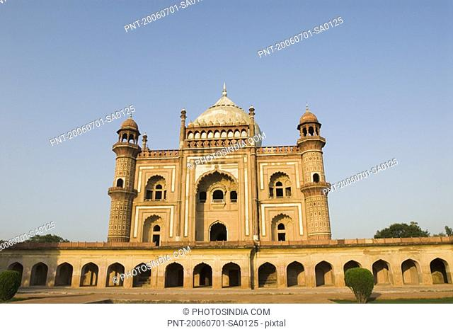 Facade of a monument, Safdarjung Tomb, New Delhi, India