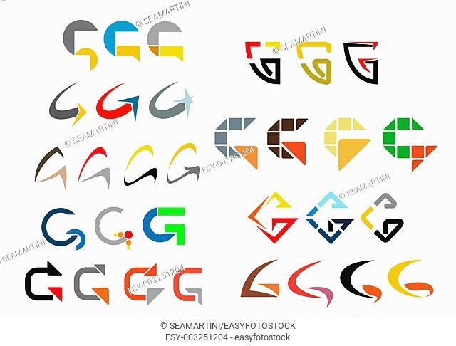 Set of alphabet symbols and elements of letter
