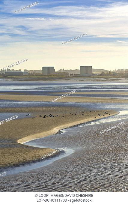 The disused Berkeley power station and the River Severn
