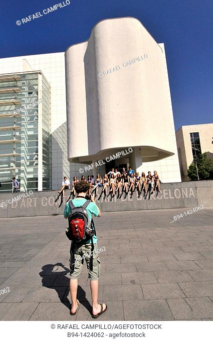 MACBA. Museum of Contemporary Art (1987-1995 by Richard Meier). Plaça dels Àngels. Barcelona. Catalonia. Spain