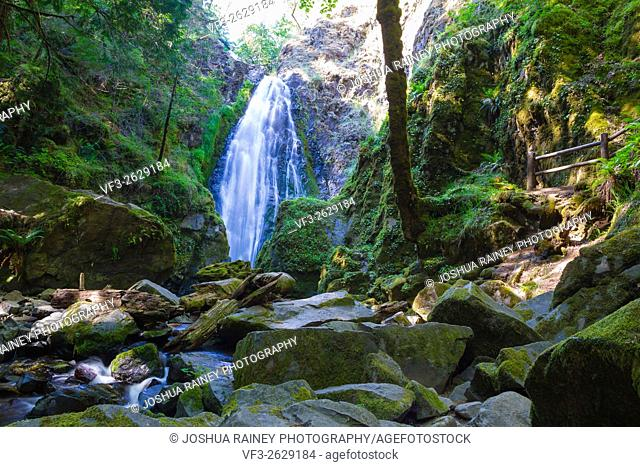 Susan Creek Falls in the Umpqua National Forest. This waterfall is quite large and easily accessible