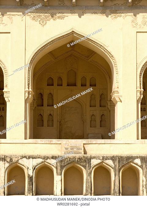 Door of Golconda Fort , Hyderabad , Andhra Pradesh , India