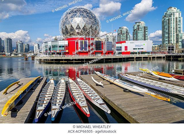 Dragon boats, Telus World of Science, Vancouver, British Columbia, Canada