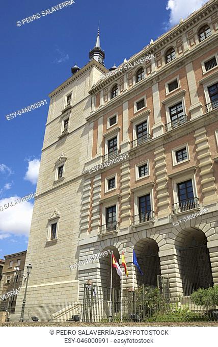Toledo Palace known as Alcazar de Toledo, Spain
