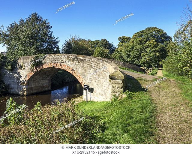 Nicholsons Bridge on the Ripon Canal Ripon Yorkshire England