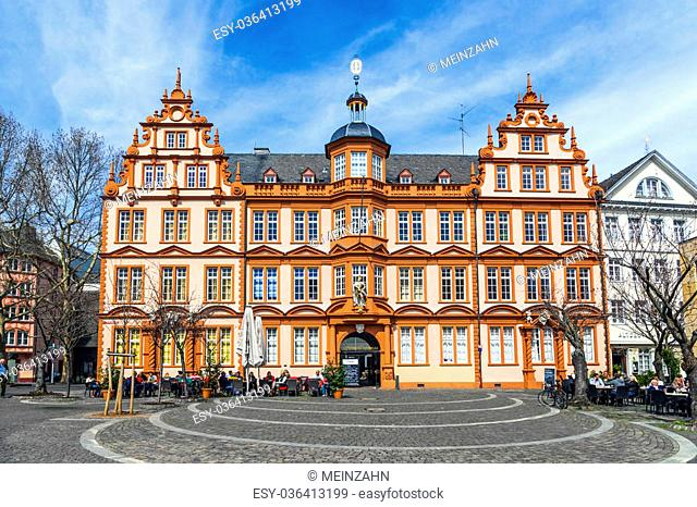 MAINZ, GERMANY - APRIL 14: house of Gutenberg on April 14, 2013 in Mainz, Germany. The Gutenberg Museum is one of the oldest museums of printing in the world