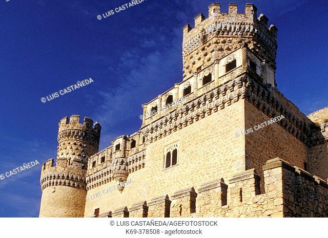 Manzanares El Real Castle. Madrid. Spain