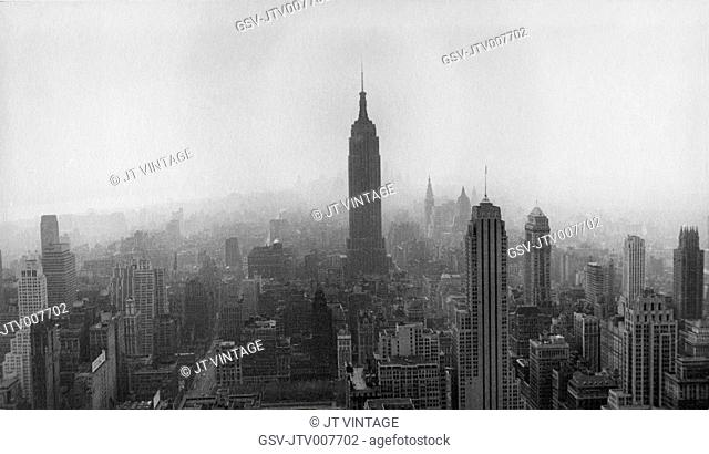 Skyline, New York City, USA, circa 1950