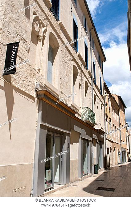 Street in central Nimes, France