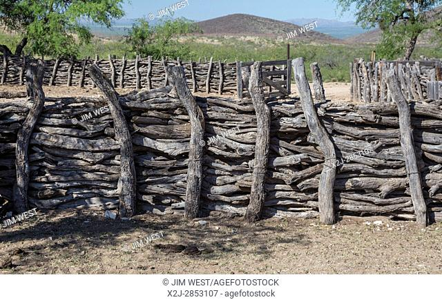 Tucson, Arizona - A corral used by cattle ranchers in the Sonoran Desert southwest of Tucson