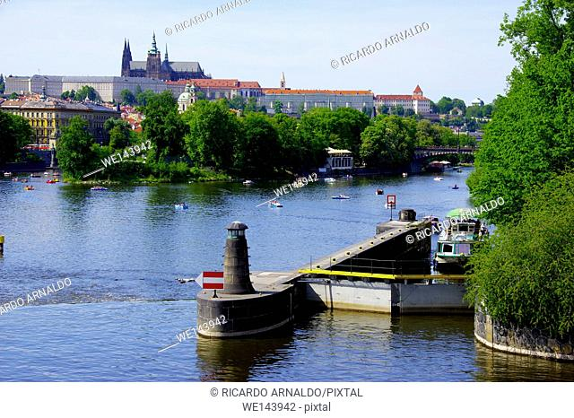 The Vultava River, Prague, on a Sunday afernoon