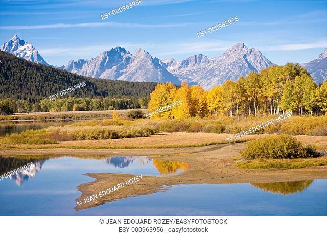 Landscape of the Grand Teton range