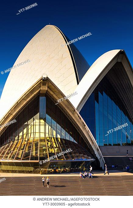 Iconic Sydney Opera House, front view. New South Wales, Australia