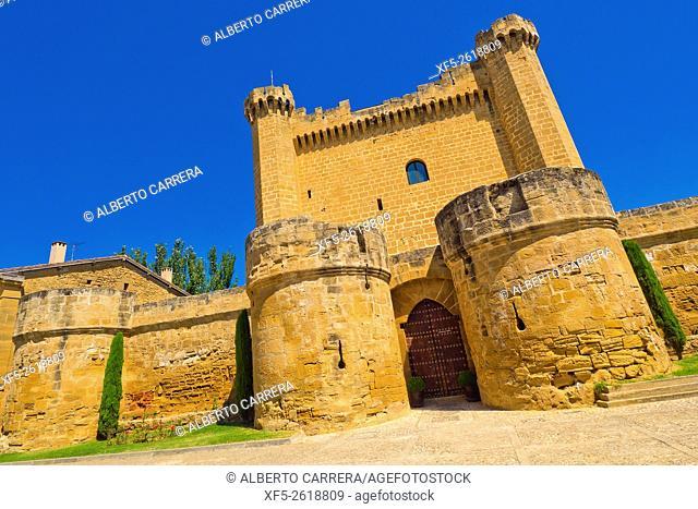Palace-Castle of Sajazarra, S. XV, Sajazarra, La Rioja, Spain, Europe