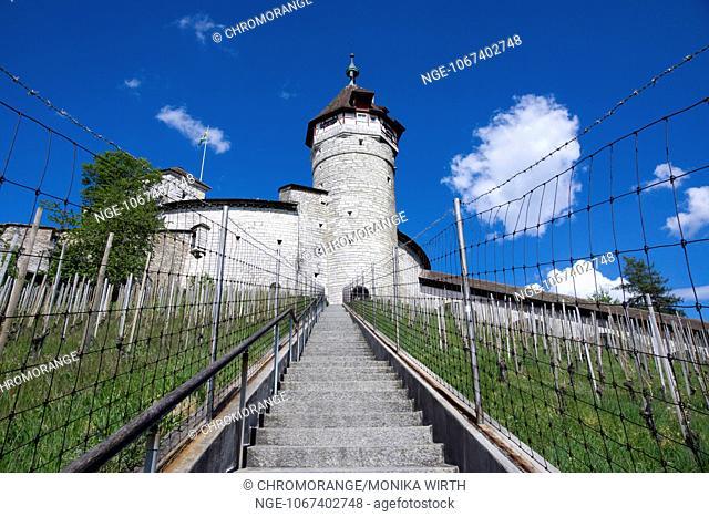 Fortress Munot, Schaffhausen, High Rhine, Canton of Schaffhausen, Switzerland, Europe