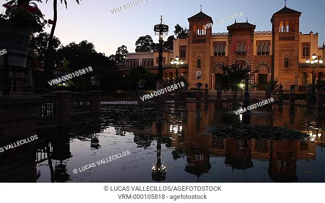 Museum of Arts and Popular Customs in Maria Luisa's Park. It was constructed for the Ibero-American exhibition of 1929 by Aníbal Gonzalez