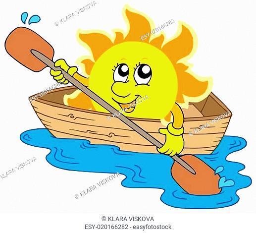 Sun in boat