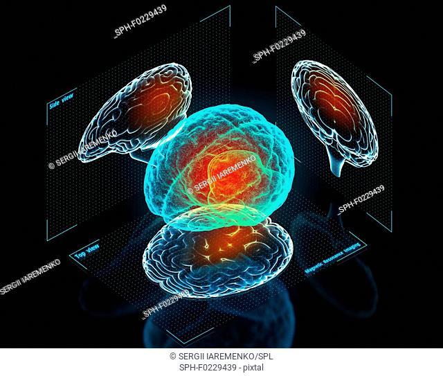Futuristic medicine, conceptual illustration