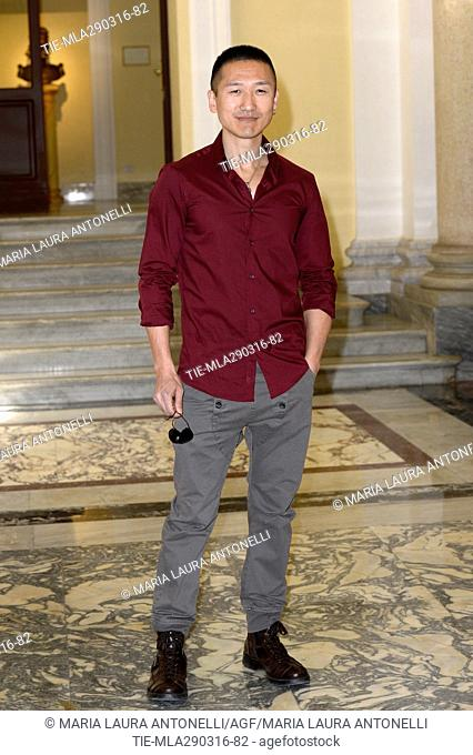 Yoon C. Joyce during the photocall of the Mediaset TV series Fuoco Amico TF45 Eroe per amore. Rome. Italy 29/03/2016