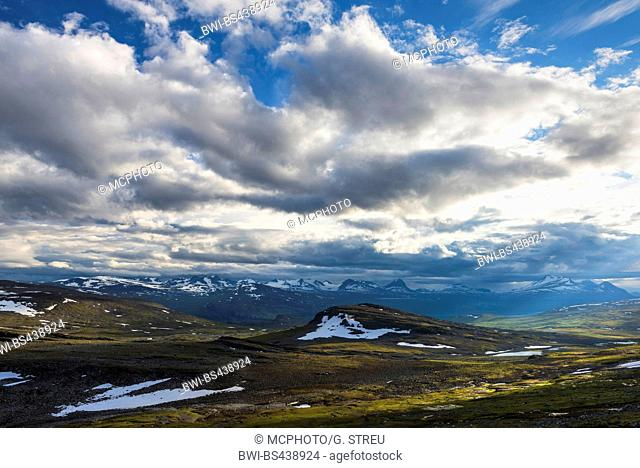 mountains of Akka in Sarak national park, Sweden, Lapland, Norrbotten, Sarek National Park
