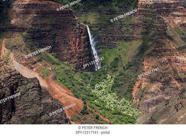 Waipo'o Falls, Waimea Canyon State Park; Kauai, Hawaii, United States of America