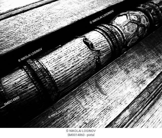 Horizontal diagonal wood texture background backdrop
