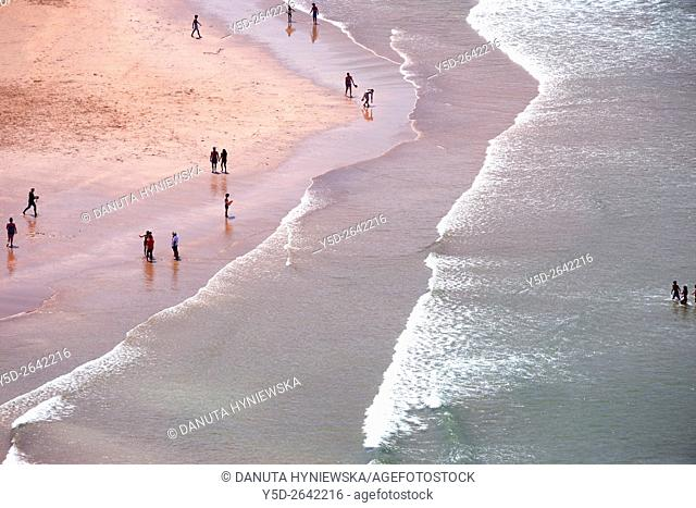 Europe, Portugal, Algarve, Faro district, Aljezur, close to Sagres, Praia da Arrifana - Arrifana beach, Costa Vicentina, Vicentine Coast Natural Park