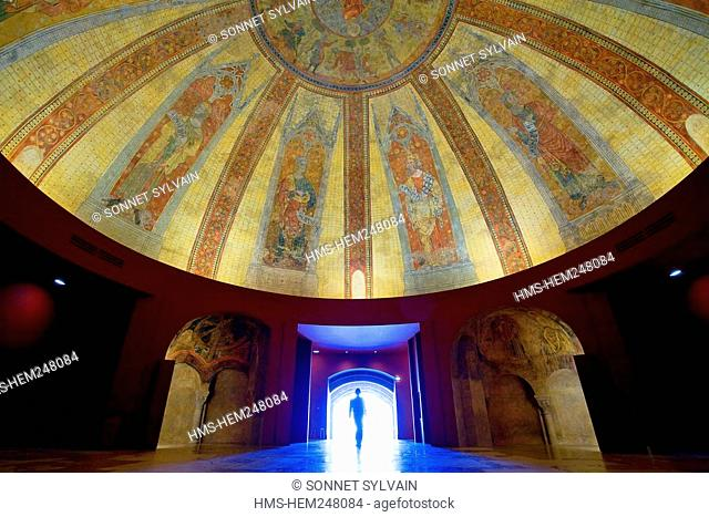 France, Paris, Palais de Chaillot, Cite de l'Architecture et du Patrimoine City of Architecture and Patrimony, murals gallery