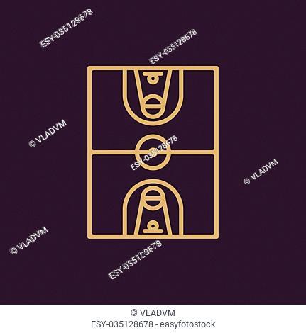 The basketball icon. Basketball symbol. Flat Vector illustration