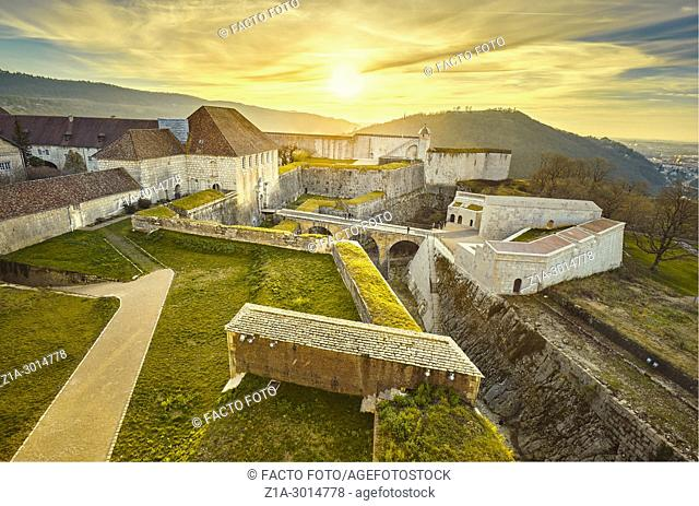 The Citadel of Besançon, a 17th-century fortress designed by Vauban for Louis XIV. UNESCO World Heritage Site. Besançon. Doubs