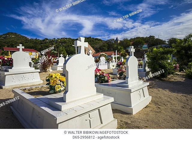 French West Indies, St-Barthelemy, Lorient, traditional cemetery