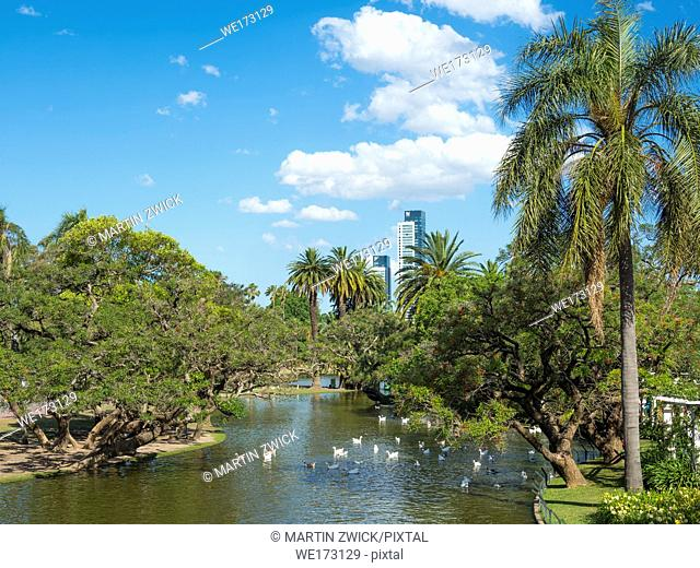 Park Bosques de Palermo in quarter Palermo. Buenos Aires, the capital of Argentina. South America, Argentina, November