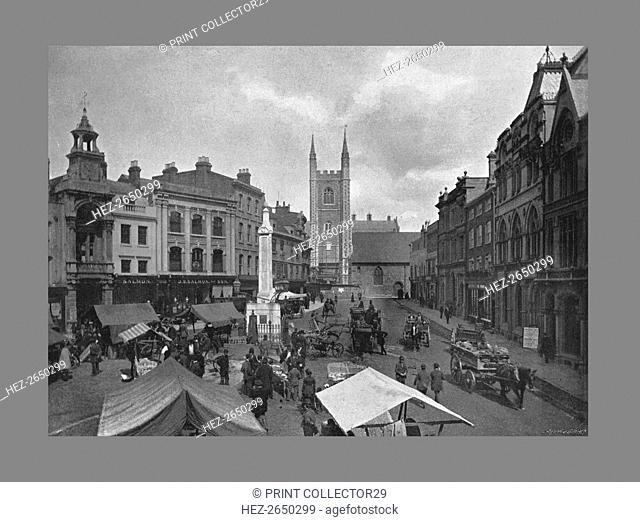 Market Place, Reading, c1900. Artist: SV White