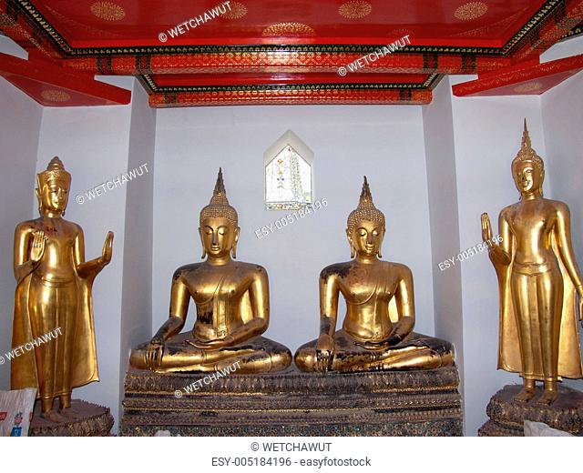 Buddhism and art on temple in Thailand