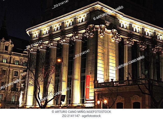 Building of Caryatids, XXth century, nowadays seat of Instituto Cervantes, Madrid, Spain