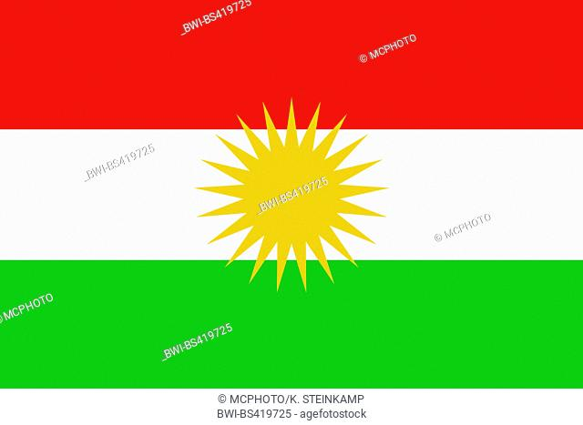 flag of Kurdistan, Iraq, Kurdistan