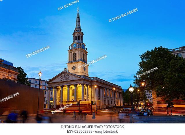 London Trafalgar Square St Martin church of England