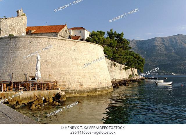 Fort and city Wall, Korcula Town at Korcula Island, Croatia