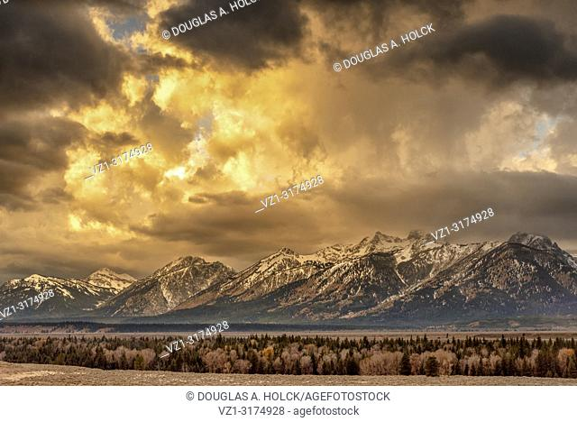 Sunrise on a Storm in Grand Teton National Park