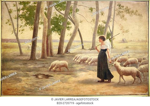 """Shepherdess"", 1902, Marco Tobón Mejía, Museo de Antioquia, Medellin, Antioquia, Colombia"
