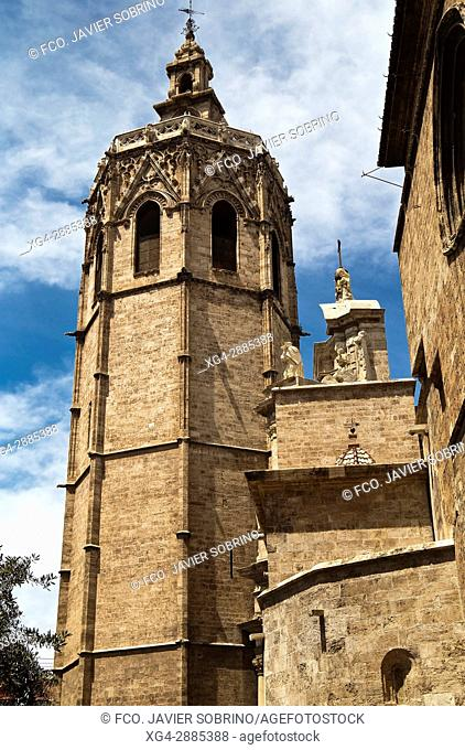 Torre del Micalet (Bell tower), Valencia Catedral, Valencian Community, Spain