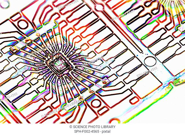Microprocessor chip, artwork
